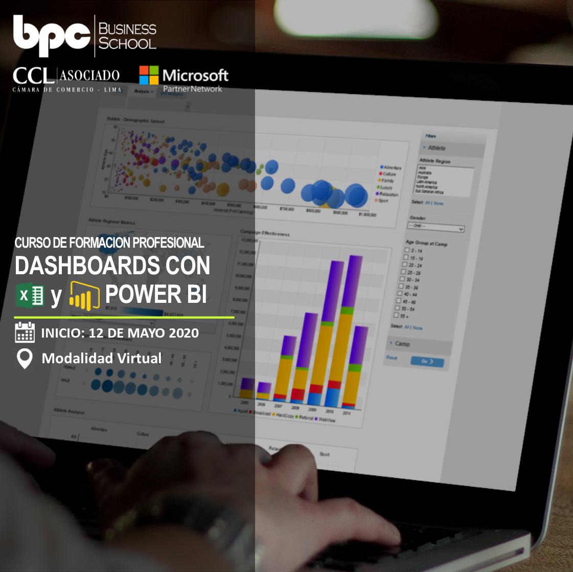 Curso en Dashboards con Excel y Power BI