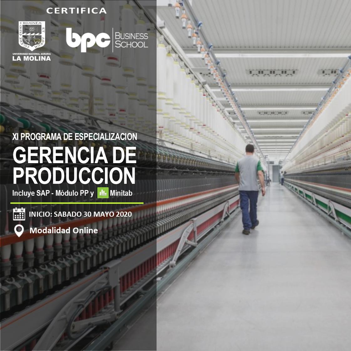 XI PDE en Gerencia de Producción (Grupo B)
