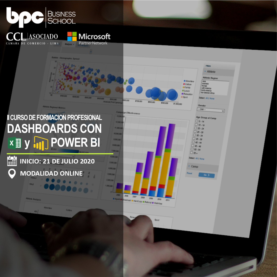II Curso en Dashboards con Excel y Power BI